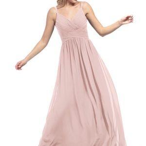 Azazie Blake Dress Dusty Rose